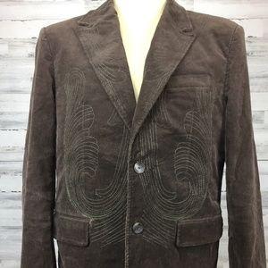 Dekker Sz M Sport Blazer Coat Corduroy Stitching